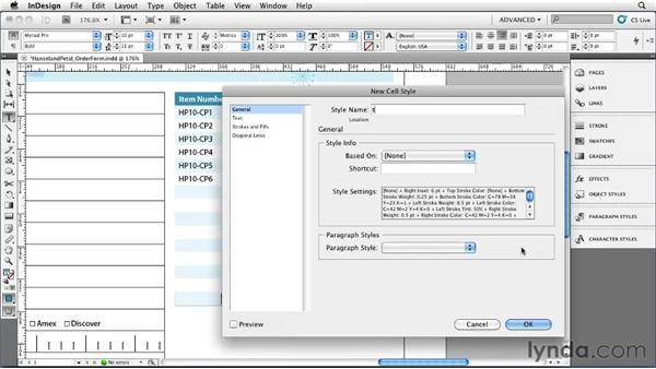 Applying table styles: InDesign CS5 Essential Training