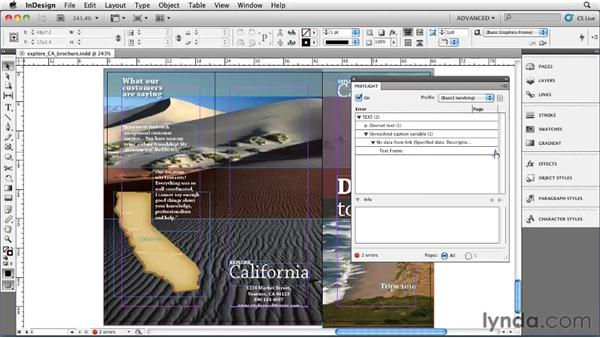 Checking your document with the Preflight panel: InDesign CS5 Essential Training