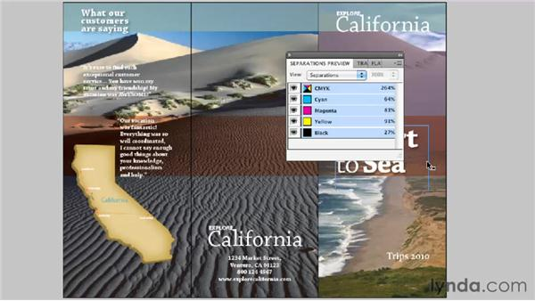 Checking color with the Separations Preview: InDesign CS5 Essential Training