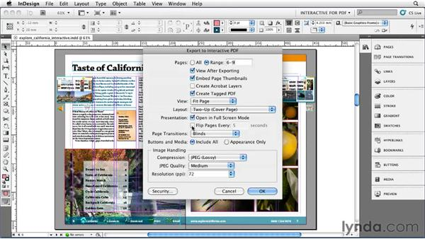 Exporting an interactive PDF: InDesign CS5 Essential Training