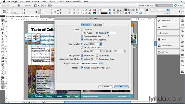 Exporting SWF files: InDesign CS5 Essential Training