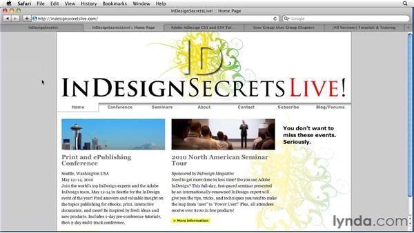 Finding more information and help: InDesign CS5 Essential Training