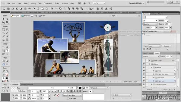 Working with tabbed documents: Fireworks CS5 Essential Training