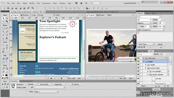 Setting up rulers, guides, and grids: Fireworks CS5 Essential Training