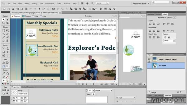 Using tooltips and Smart Guides: Fireworks CS5 Essential Training