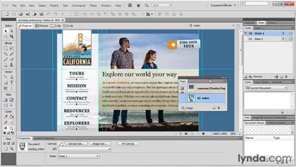 Working with panels: Fireworks CS5 Essential Training
