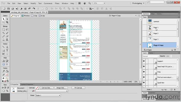 Working with pages: Fireworks CS5 Essential Training