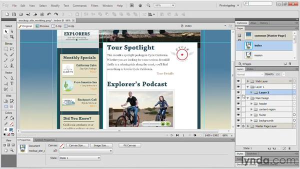 Working with layers: Fireworks CS5 Essential Training