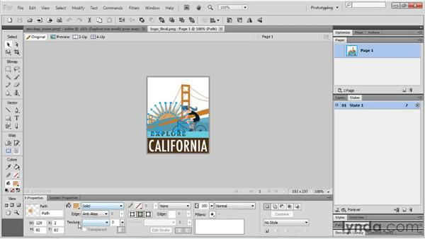 Using the Properties panel: Fireworks CS5 Essential Training
