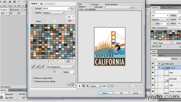 Using the Image Preview window: Fireworks CS5 Essential Training