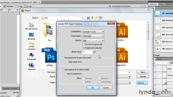 Creating PDF files: Fireworks CS5 Essential Training