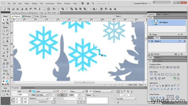 Editing the instance of a symbol: Fireworks CS5 Essential Training