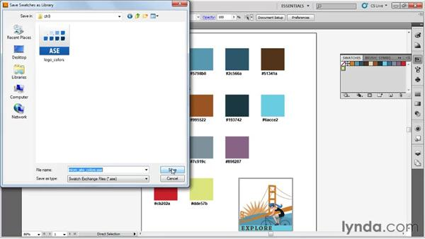 Working with Adobe Swatch Exchange files: Fireworks CS5 Essential Training