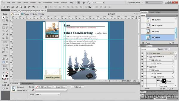Importing pages: Fireworks CS5 Essential Training