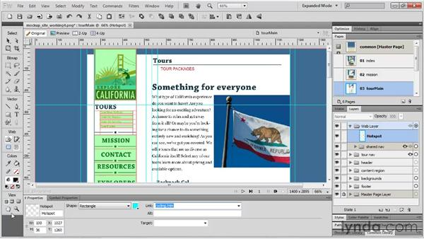 Previewing the mockup: Fireworks CS5 Essential Training