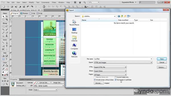 Using HTML prototyping: Fireworks CS5 Essential Training