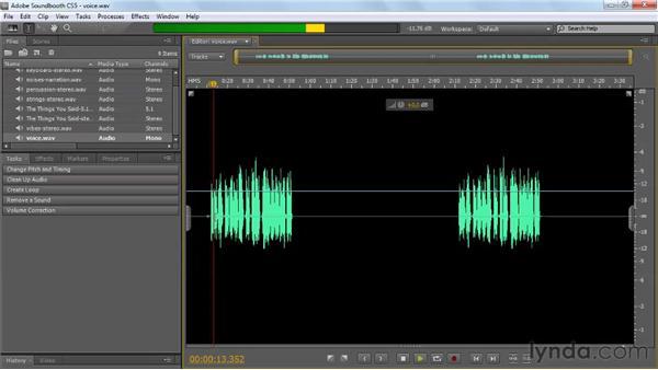 Understanding the workflow: Soundbooth CS5 Essential Training