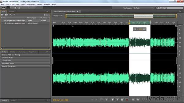 Customizing the workspace: Soundbooth CS5 Essential Training
