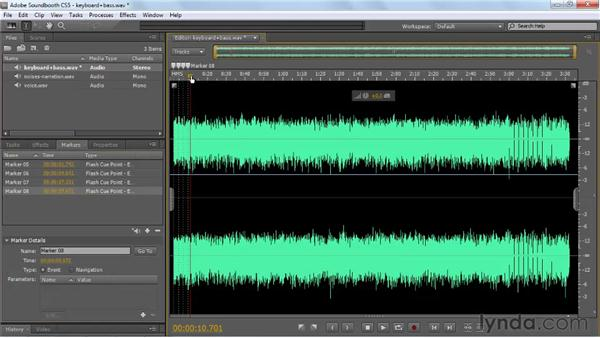 Selecting audio: Soundbooth CS5 Essential Training