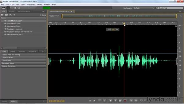 Adjusting volume: Soundbooth CS5 Essential Training