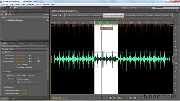 Creating and using loops: Soundbooth CS5 Essential Training