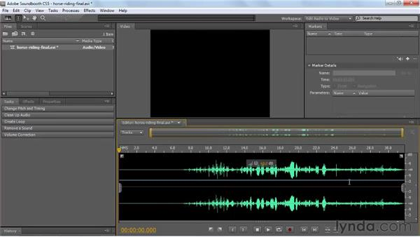 Working with video files: Soundbooth CS5 Essential Training