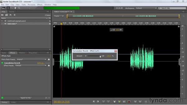 Previewing Soundbooth effects: Soundbooth CS5 Essential Training