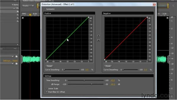 Exploring other special effects: Distortion and Vocal Enhancer: Soundbooth CS5 Essential Training