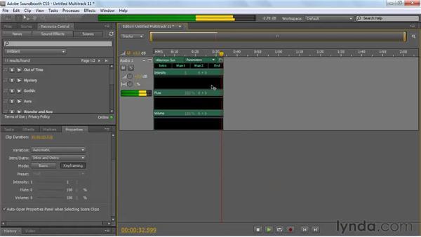Understanding how scores work: Soundbooth CS5 Essential Training