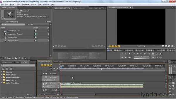 Dynamically linking to Premiere Pro and After Effects projects: Soundbooth CS5 Essential Training