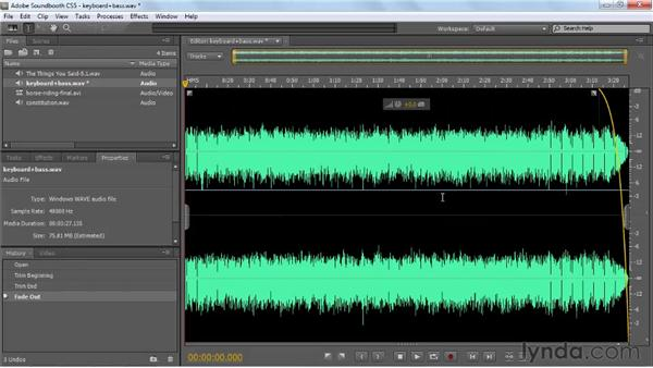 Saving entire files or selected ranges: Soundbooth CS5 Essential Training