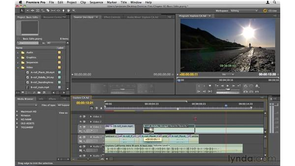 Making basic edits: Premiere Pro CS5 Essential Training