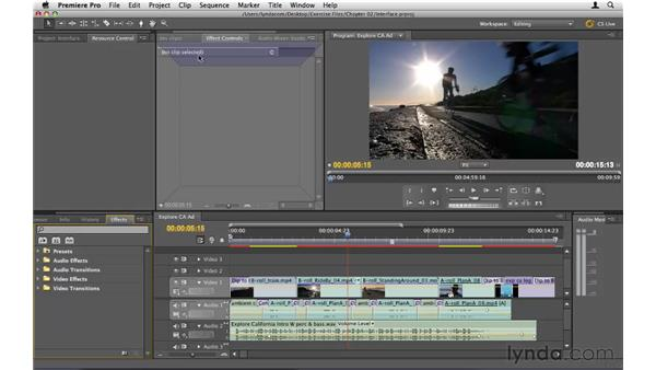 Getting familiar with the interface: Premiere Pro CS5 Essential Training