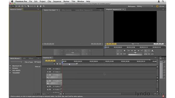 Setting up a new project: Premiere Pro CS5 Essential Training