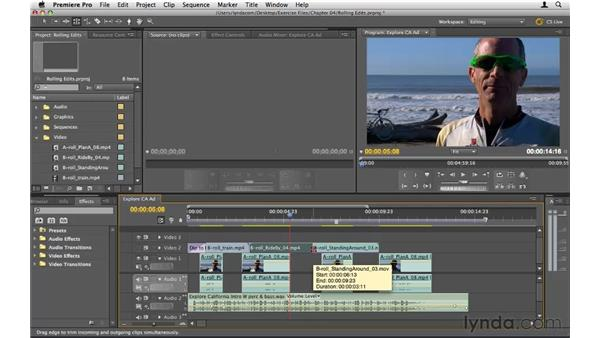 Moving edit points: Premiere Pro CS5 Essential Training