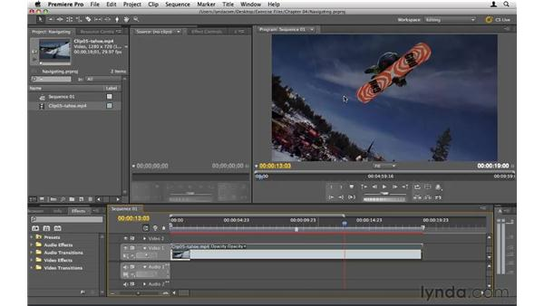 Navigating efficiently in the Timeline: Premiere Pro CS5 Essential Training