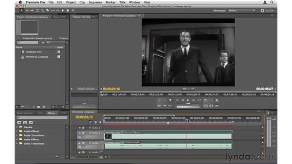 Using emotional cutaways: Premiere Pro CS5 Essential Training