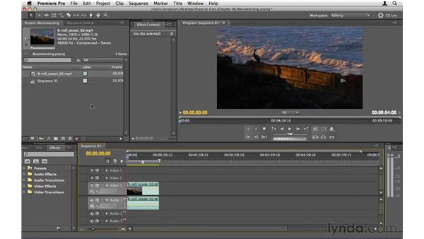 Relinking offline media: Premiere Pro CS5 Essential Training