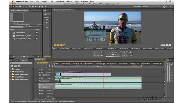 Adjusting the rubber band: Premiere Pro CS5 Essential Training