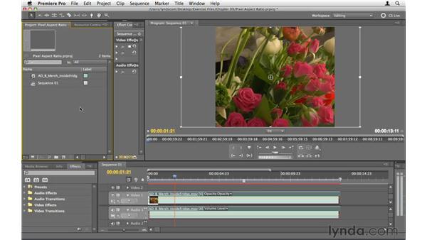 Understanding pixel aspect ratio: Premiere Pro CS5 Essential Training