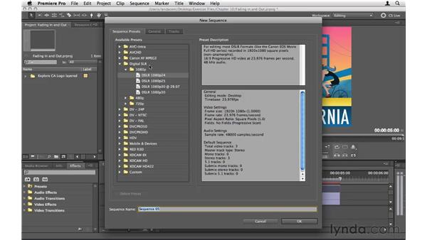 Fading layers in and out: Premiere Pro CS5 Essential Training