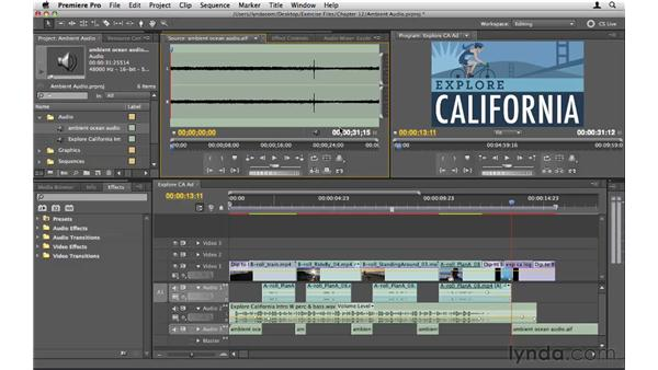 The importance of ambient audio: Premiere Pro CS5 Essential Training