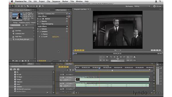 Fixing audio problems: Premiere Pro CS5 Essential Training