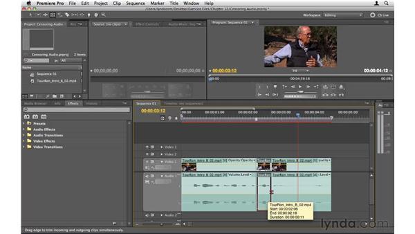 Censoring audio: Premiere Pro CS5 Essential Training