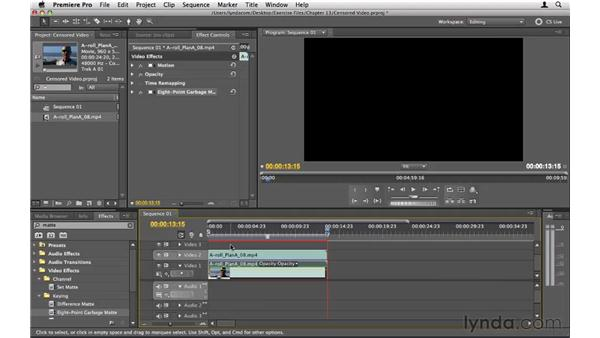 Creating censored video: Premiere Pro CS5 Essential Training