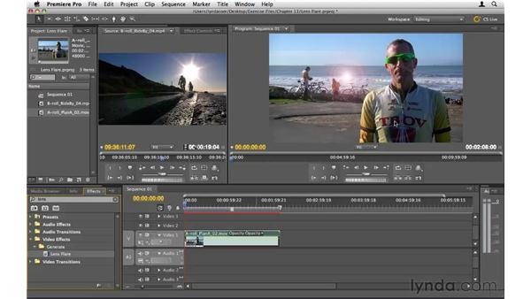 Creating a lens flare: Premiere Pro CS5 Essential Training