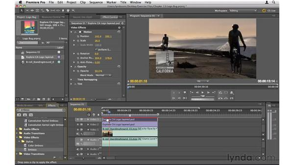 Creating a logo bug: Premiere Pro CS5 Essential Training