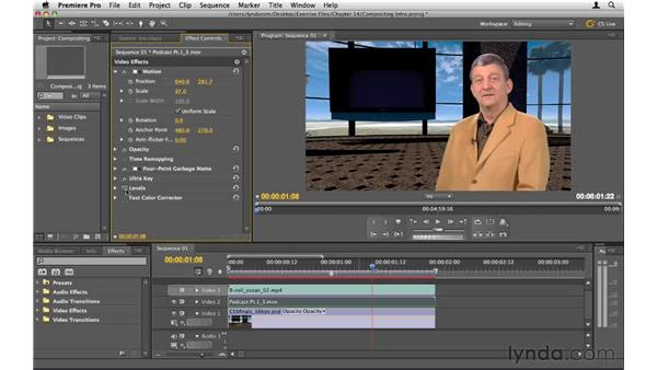 Intro to compositing: Premiere Pro CS5 Essential Training