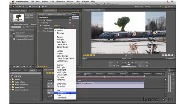 Compositing with blend modes: Premiere Pro CS5 Essential Training