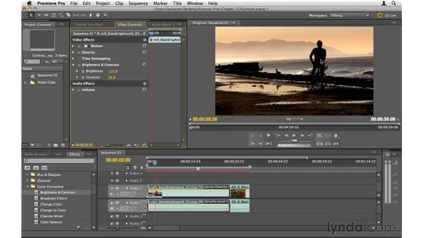 Increasing contrast: Premiere Pro CS5 Essential Training